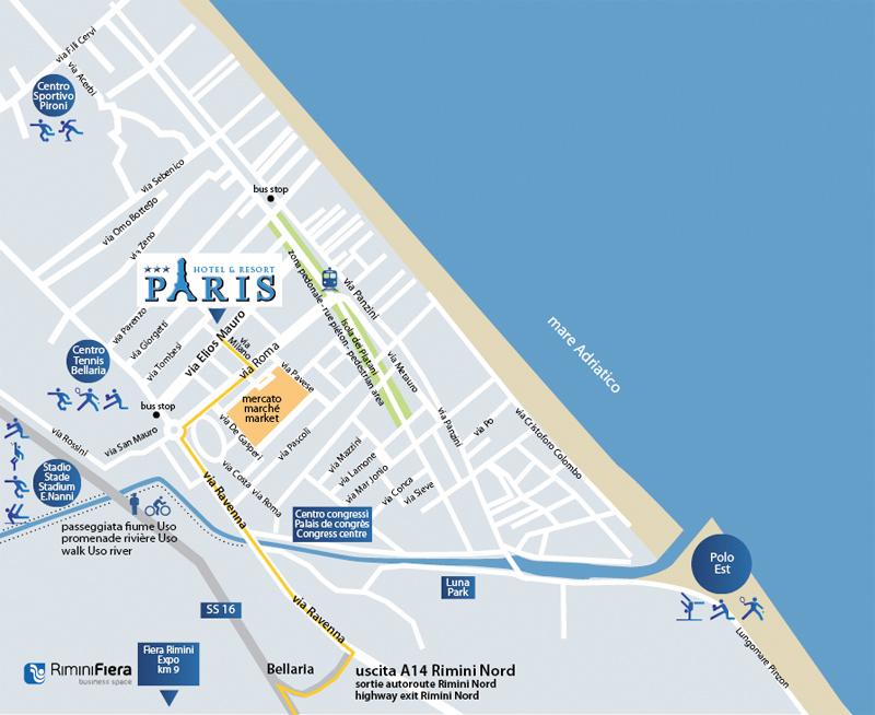 Cartina Riviera Romagnola.Il Paris Hotel Resort Di Bellaria Di Rimini Nelle Mappe Di Google Hotel Paris Resort